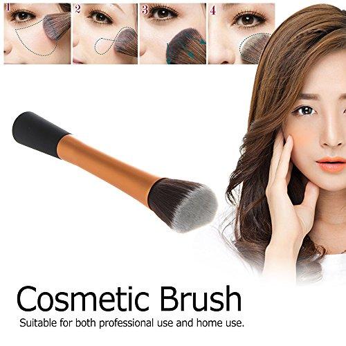 Anself Professional Stippling Brush Flat Top Basic Brush Blusher Powder Foundation Tool