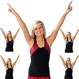 Pizzazz Black Tri Color Zebra Cheer Dance Top Girls 2-4