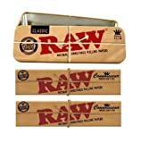 RAW Stoner Set 3 Parts: 2 x Connoisseur KS Slim Papers + Tips-Cone Caddy Tin by RAW