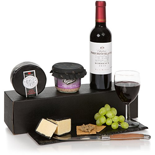 Wine Cheese and Pate Gift Box Hamper - Gift Hampers & Food Gifts Baskets For Him
