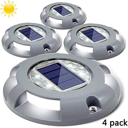 HEGUAN Solar Deck Lichter, Auffahrt Dock Licht LED solarbetriebene Stufenbeleuchtung wetterfest ohne Verkabelung erforderlich