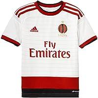 adidas, Maglietta AC Milan Bambino, Bianco (Running White/Victory Red S04/Black), 152 cm