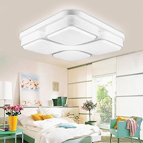 Fei & S lunga durata e vintage moderno lampadario in vetro, paralume lampadario, con miglior servizio Rectangular 65*44cm remote control induction 30W