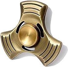 SUNKONG Triángulo EDC mano hilandero Fidget juguetes Ultra duradero con cuerpo de cobre puro, híbrido rodamientos de bolas de cerámica, el tiempo de giro de hasta 6 minutos