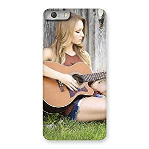 Special Girl Guitar Back Case Cover for Micromax Canvas Knight 2