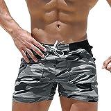 Pantaloncini da Spiaggia Uomo LandFox beach shorts Costumi da bagno da uomo Running Surfing Sport Beach Shorts Trunks Board Pants camuffamento Stampato Calzoncini da Bagno Uomo Costume da Bagno