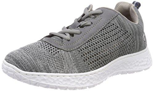 Rieker Damen N4105 Sneaker, Grau (Grau/Jeans), 39 EU