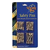 Enlarge toy image: Assorted Safety Pins Small Medium Large Chrome Silver Metal