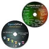 OpenOffice Premium Edition + Ultimate Boot-CD / Ersthilfe & Notfall-CD  f�r Windows Betriebssystemen 10-8-7-Vista-XP (32 & 64 Bit) (2 CDs Spar-Set) Bild