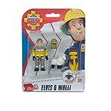 Simba Feuerwehrmann Sam - Sam Tierrettung Figuren Set, Elvis und Wolli