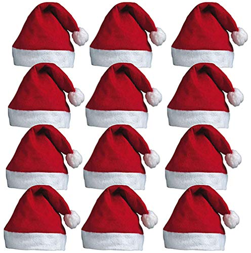 USA x-dodd INC Weihnachtsmützen Nikolausmützen Weihnachtsmann Mütze Weihnacht Nikolaus,Weihnachtsdeko, Adventsfeier, Kostüm-Accessoire (18 Packs)