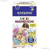 Emcur Kinder Nasendusche mit 10 Beuteln Nasenspülsalz, 1er Pack