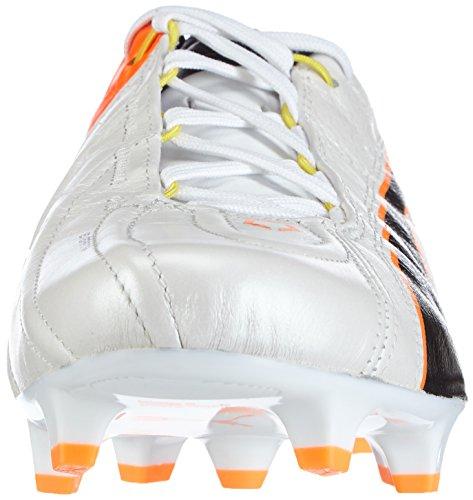 Puma King Ii Ef + Fg Mens Scarpe Da Calcio Bianche (bianco-nero-fluo Flash Arancione 01)