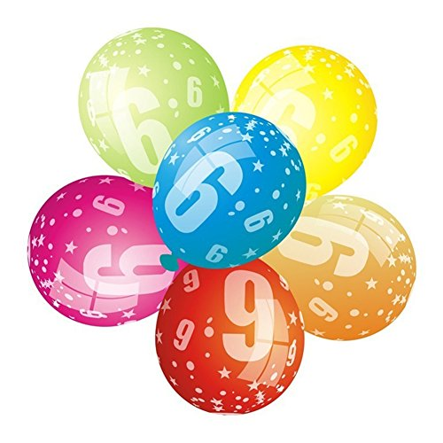 tianxiangjjeu 20 Stück/Pack Latex Digital Ballon Kinder Geburtstag Hochzeit Party Dekoration Requisiten Zufällige Farbauswahl