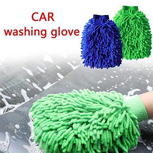 Ultrafeinen Faser Chenille Auto Waschen Handschuhe Pinsel Mikrofaser Motorrad Washer Hause Reinigen Bürsten Fenster Waschen Werkzeug Auto Pflege -