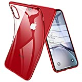 Joyguard Coque iPhone XR, Ultra Mince Premium TPU Souple Silicone Plating Coquille [Crystal Clear] [Poids léger] [Shock-Absorption] Etui Case Cover pour iPhone XR - 6.1pouces - Rouge