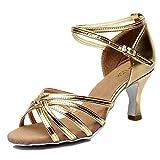 YIBLBOX Damen Tanzen Sandalen Hoher Tanzschuhe Standard/Latein Schuhe 5cm/7cm Absatz