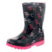 Princess Stardust Poodle Girls Wellies Pink - Pink - UK Sizes 4-12