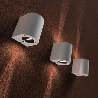 Wand Lampe Außen Leuchte Schutznorm IP44 Edelstahl silber Nordlux CANTO 77571034 von Nordlux GmbH auf Lampenhans.de