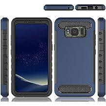 Instanttool Case for Samsung Galaxy S8 Active, Fashion Scratch Resistant Shock Absorbing Anti-Scratch Protective Case for Samsung Galaxy S8 Active Dark Blue
