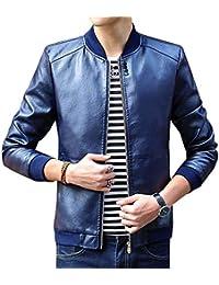 Laisla fashion Giubbotto per Uomo Giubbotto in Pelle Pu Giubbotto in  Classiche Pelle Sintetica Giacca per 284d3a47b04