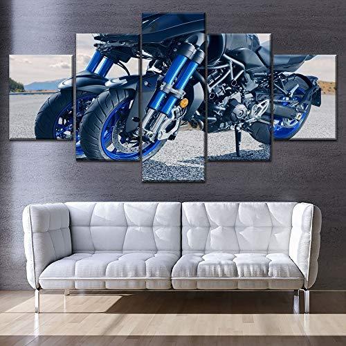 mmwin Arbeit oder weniger Leinwand Modular 5 Stück Drucktyp Motorrad Motor Poster Moderne dekorative Wand Kunstwerk