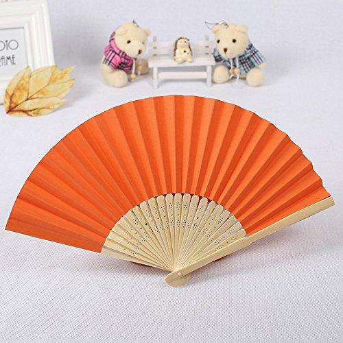 Kviklo Handfächer Folding Fächer Kunststoff Solid Plain Kostüm Handfächerheld Bamboo Openwork Oriental Party Hochzeit - Fähre Kostüm