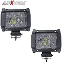 AllExtreme EX6OL2P 6 LED Fog Light Bar 4 inch Osram Lens Waterproof High Beam CREE Work Light for Motorcycle Car Truck and Jeep (18W, White Light, 2 PCS)