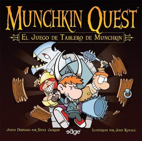 Asmodee - Munchkin Quest, Juego de Mesa (Edge Entertainment EDGMQ01)