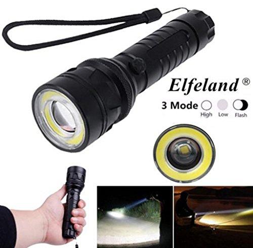 Tongshi Elfeland 15000Lm T6 + COB LED Linterna Antorcha Luz Super Brillante...