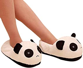 Voberry Mens Panda Winter Warm Plush Antiskid Indoor Home Slippers 27.5cm As Picture Show