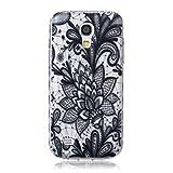 Samsung Galaxy S4 Mini/i9190 Hülle [Mit gehärtetem Glas-Bildschirmschutz], Grandoin (TM) modische flexible schöne Zeichnung aufgedruckte Muster-stoßabfangende-Gehäuse-Hülle, ausgezeichneter weicher Qualitäts-Silikon-Gummi Extra ultra dünnes buntes TPU Design-schützende Rückseiten-Abdeckungs-Hülle Ideal passend für Samsung Galaxy S4 Mini/i9190