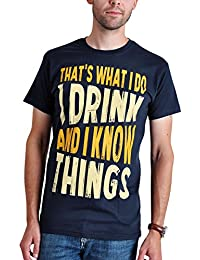 Elbenwald Beber y Saber Cosas Que Los Hombres de La Camiseta de Juego de Tronos Tyrion