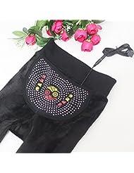 &zhou Caliente en otoño e invierno más leggins de las mujeres acolchadas de pantalones de paño grueso y suave del pie Slim , black , one size