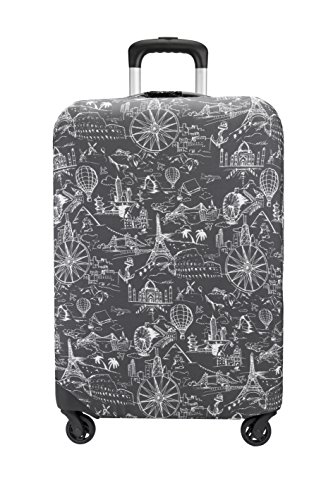 Travelon Medium Suitcase Cover, Black Print