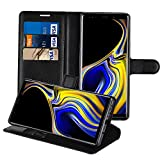 HWeggo Samsung Galaxy Note 9 Schutzhülle, [Ständer Funktion] Leder Hülle Handyhülle Etui PU Tasche Leder Flip Case Cover mit Kartenfach für Samsung Galaxy Note 9 - Schwarz