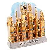 SM SunniMix 3D Atracciones Mundiales Imanes de Nevera Colección Recuerdos de Turismo Catedral de Milán