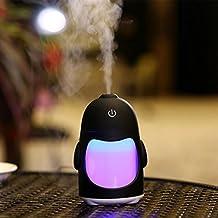 Umidificatore, ASHOP Umidificatore Atomizzante, Umidificatore Portatile Pinguino Umidificatore Mini Night Light Usb Purificatore D'Aria (Bianco)