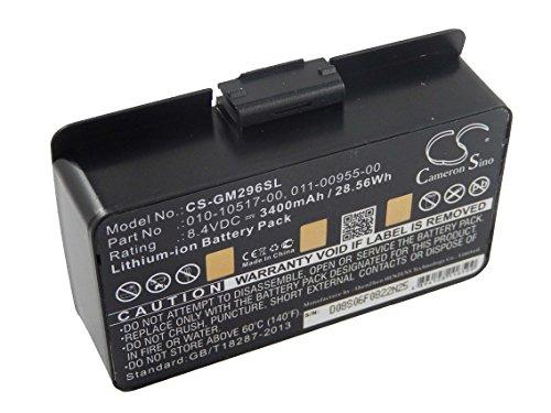 vhbw Li-Ion batería 3400mAh (8.4V) para GPS, sistema de navegación Garmin GPSMap 276, 276c, 278, 296, 378 por 010-10517-00, 010-10517-01.