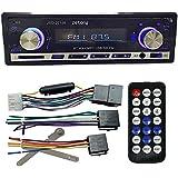 Zetong Autoradio MP3 Tuner PLL 50W x 4 Slot pour carte SD / port USB voiture récepteur Radio FM stéréo MP3 Lecteur Audio Bluetooth Support téléphone avec USB / SD MMC Port Car Electronics In-Dash 1 DIN (modèle 20158)
