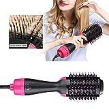 4 in 1 Modellatori Capelli ad Aria Calda, Salon One-Step Hot Hair Brush Dryer Volumizer, Raddrizzatore di Ioni Negativi Pennello Ricurvo per Tutti i Tipi di Capelli, Protezione dalle Bruciature