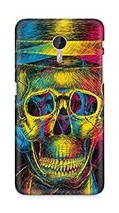 Amez designer printed 3d premium high quality back case cover for LeEco Letv Le Pro (Colorful Overlap Skull In Hat Design Art)