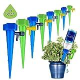 Ceepko Sistema de riego por Goteo, Juego de 12 Unidades de Goteo de Cono de jardín para macetas de riego automático para Plantas en macetas en Vacaciones, Azul y Verde