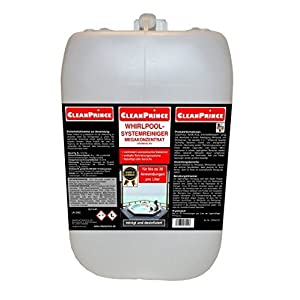 5 Liter Whirlpoolreiniger MEGAKONZENTRAT Whirlpool Reiniger Whirlpoolsystemreiniger Reinigungsmittel Systemreiniger Jacuzzi Sprudelbad Sprudelbäder Wellnessbad Badesprudler Whirlpools Whirlwannen Wannen Wannensysteme - für bis zu 100 Anwendungen ausreichend - verhindert unerwünschte Bakterien, verhindert Kalkablagerungen, beseitigt üble Gerüche, säurehaltig, ideal für Acrylflächen, auch für Pool / Pools mit automatischem Reinigungssystem
