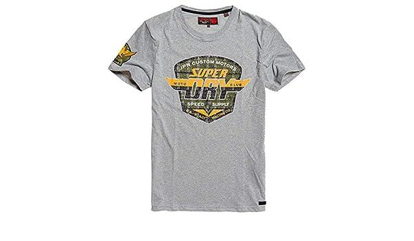 Neues Damen Superdry Schmal geschnittenes T-Shirt-Kleid Eclipse Dunkelblau