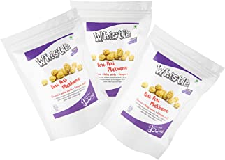 Whistle Roasted Makhana, Peri Peri, 60gms/Pack (Pack of 3) Gluten Free, Vegan, Crunchy, Healthy Snack