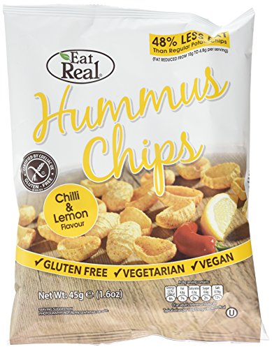 Eat Real Hummus Chilli and Lemon Chips 45 g (Pack of 12)