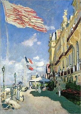 Leinwandbild 50 x 70 cm: Hotel des Roches Noires von Trouville von Claude Monet / Bridgeman Images - fertiges Wandbild, Bild auf Keilrahmen, Fertigbild auf echter Leinwand, Leinwanddruck