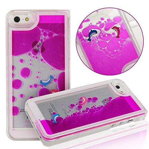 """Yaobai-2015 New Iphone 6 4.7"""" Case Coque Housse Etui Transparent Clair Cristal dur plastique Cover šŠtui de protection Liquide se šŠcoulant Bling Glitter Sparkles pour Iphone 6 4.7"""""""