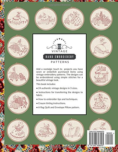 Vintage Hand Embroidery Patterns Sunbonnet Girls: 24 Authentic Vintage Designs: Volume 5